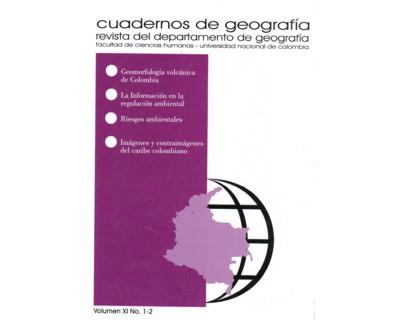 Cuadernos de geografía. Vol. XI. No. 1-2