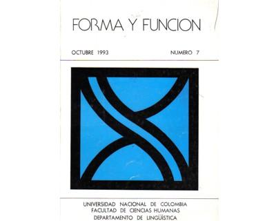 Forma y Función No. 07