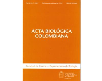 Acta Biológica Colombiana. Vol. 06 No. 1