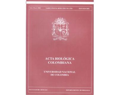 Acta Biológica Colombiana. Vol. 04 No. 1