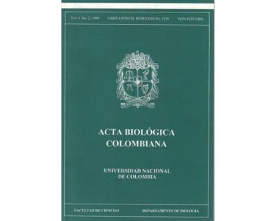 Acta Biológica Colombiana. Vol. 04 No. 2