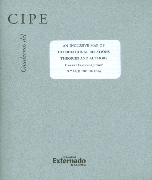 Cuadernos del CIPE No. 21. An inclusive map of international relations theories and authors