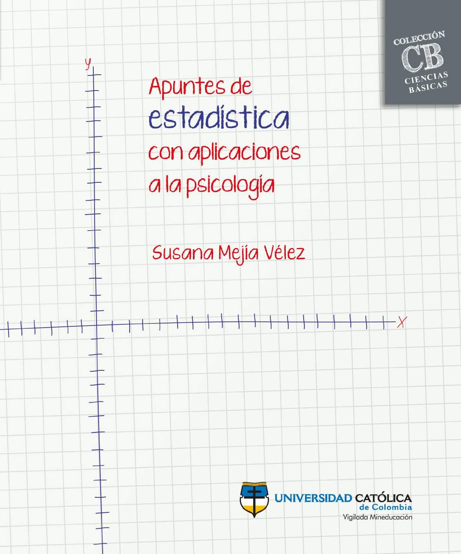 Apuntes de estadística con aplicaciones a la psicología