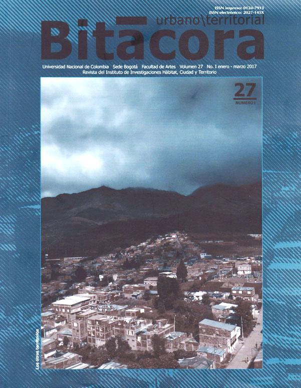 Bitácora urbano/territorial. Vol. 27 No. 1
