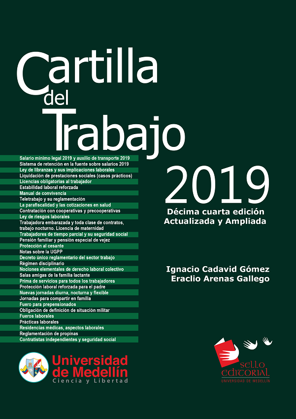 Cartilla del Trabajo 2019. Décima Cuarta Edición