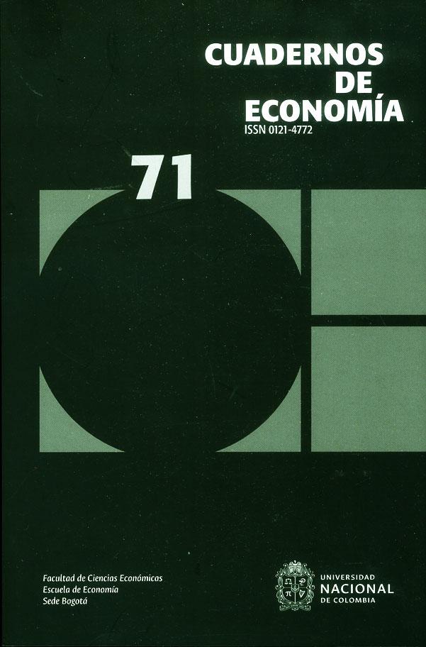 Cuadernos de economía No. 71
