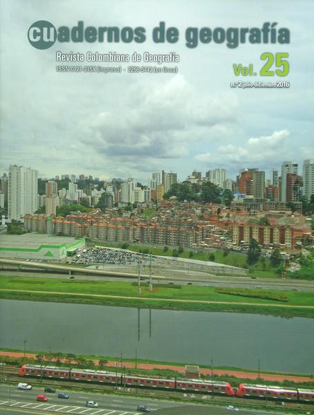 Cuadernos de Geografía Vol.25 No.2