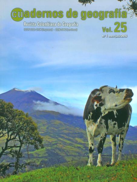Cuadernos de geografía.Revista colombiana de geografia  Vol. 25- No. 1