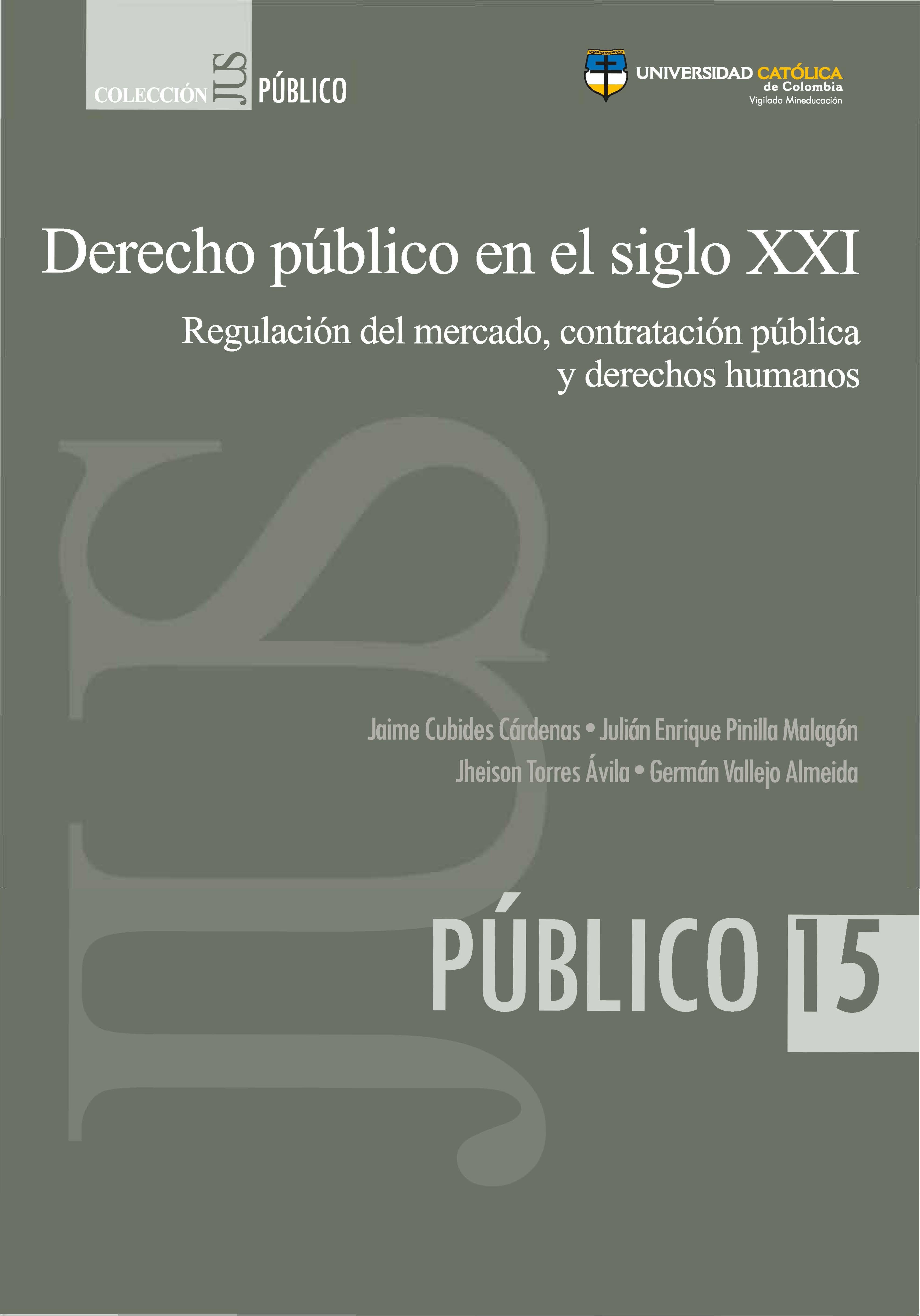 Derecho público en el siglo XXI. Regulación del mercado, contratación pública y derechos humanos