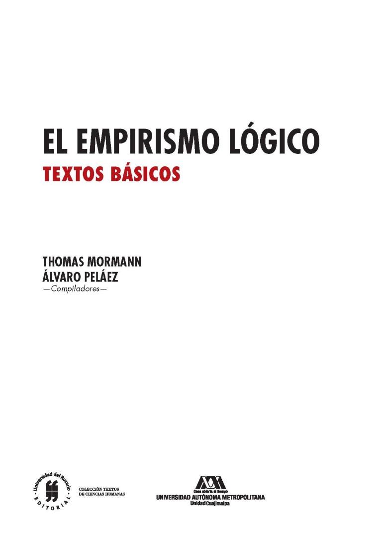 El empirismo lógico.Textos básicos