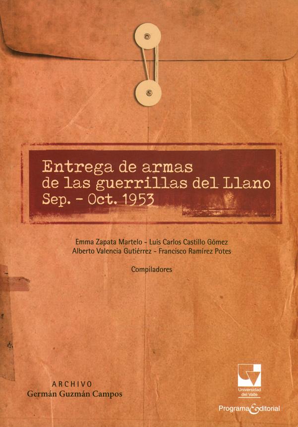 Entrega de armas de las guerrillas del Llano sep.-Oct.1953