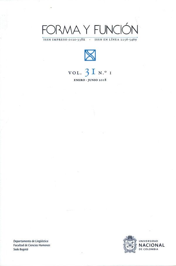 Forma y Función Vol. 31. No. 1.