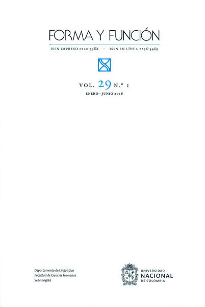 Forma y Función Vol.29 No. 1
