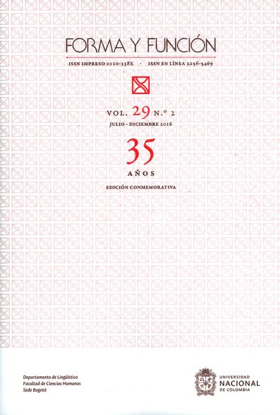 Forma y función vol.29 No.2