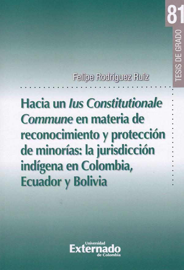Hacia un lus Constitucionale Commune en materia de reconocimiento y protección de minorías: la jurisdicción indígena en Colombia, Ecuador y Bolivia. Tesis de grado N° 81