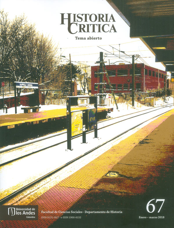 Historia Crítica No. 67 Tema abierto. Enero - Marzo 2018
