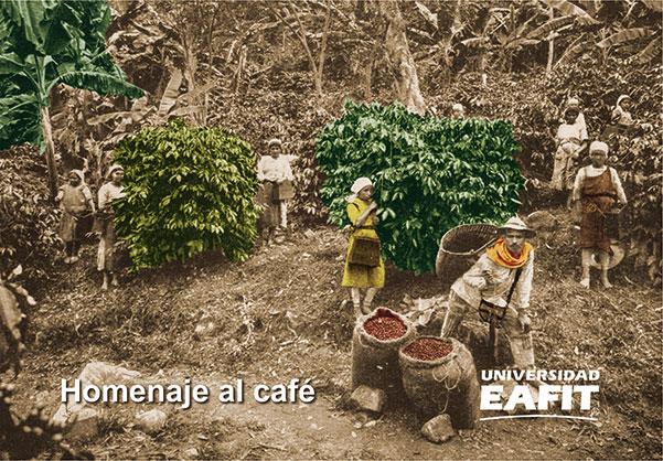 Homenaje al café. Incluye tarjetas postales