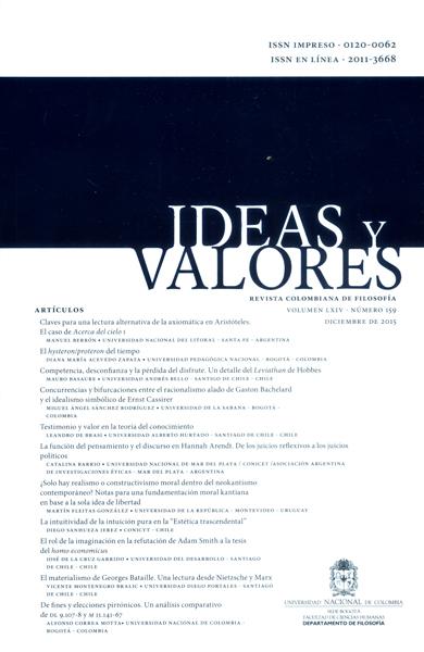 Ideas y Valores. Revista Colombiana de Filosofía. Vol.64 No. 159