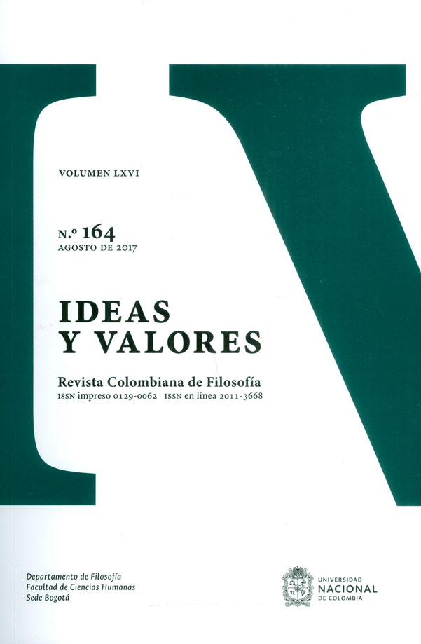 Ideas y valores.Revista colombiana de filosofía Vol. LXVI No.164