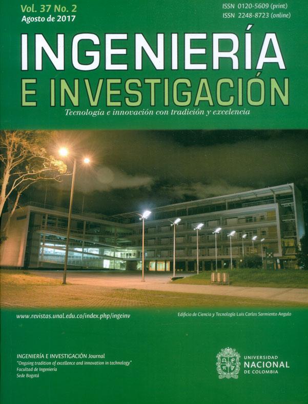 Ingeniería e investigación Vol.37 No.2