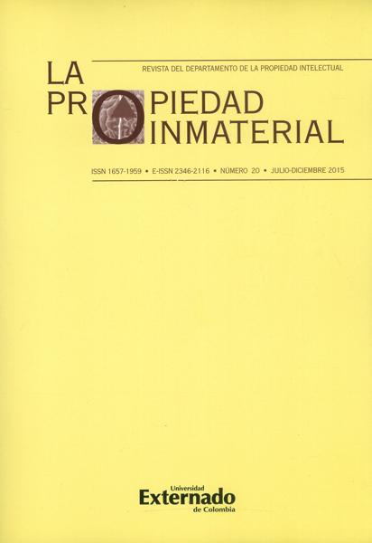 Revista la propiedad inmaterial No.20
