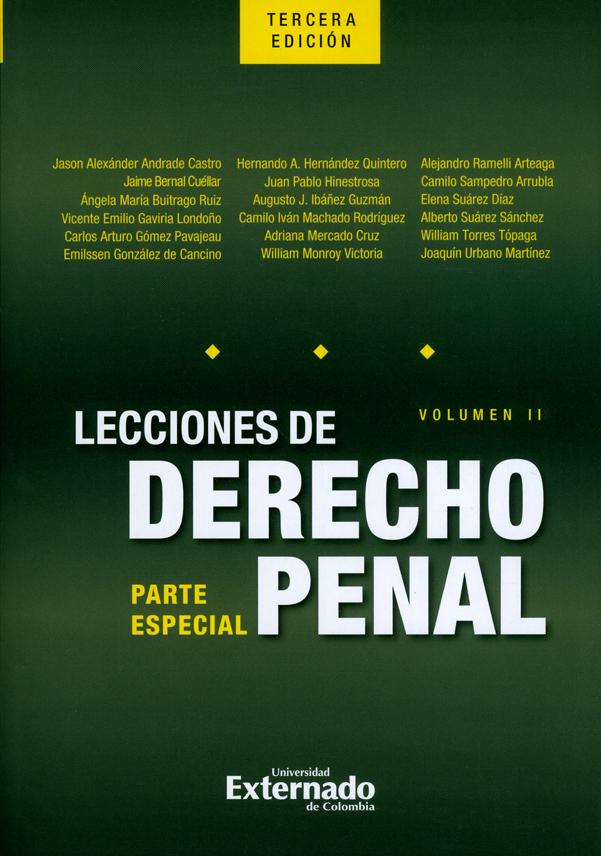 Lecciones de derecho penal: Parte especial. Volumen II. 3ª  Edición
