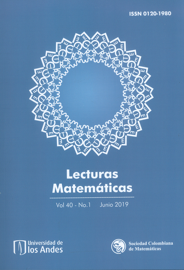 Lecturas matemáticas. Vol. 40 N°.1