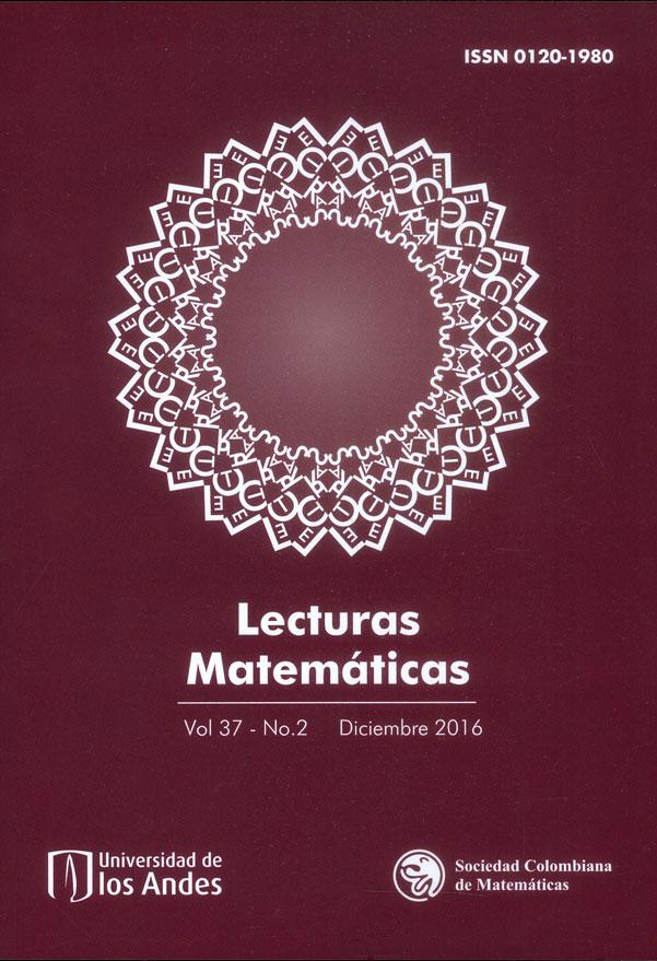 Lecturas matemáticas Vol.37 No.2