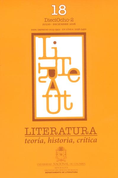 Literatura, teoría, historia, crítica Vol.18 No.2
