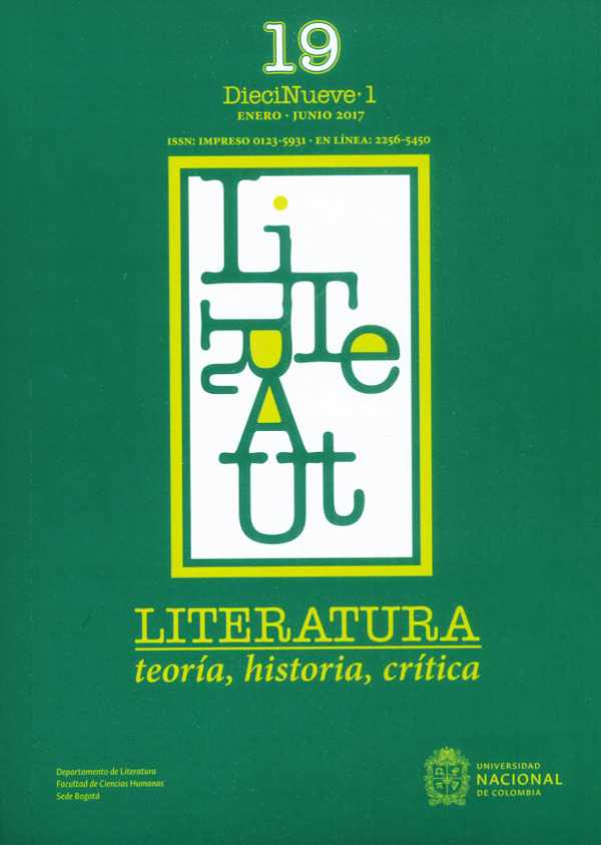 Literatura: Teoría, historia, crítica Vol. 19 No.1