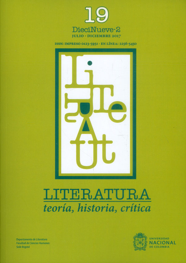 Literatura, teoría, historia, crítica Vol.19 No.2