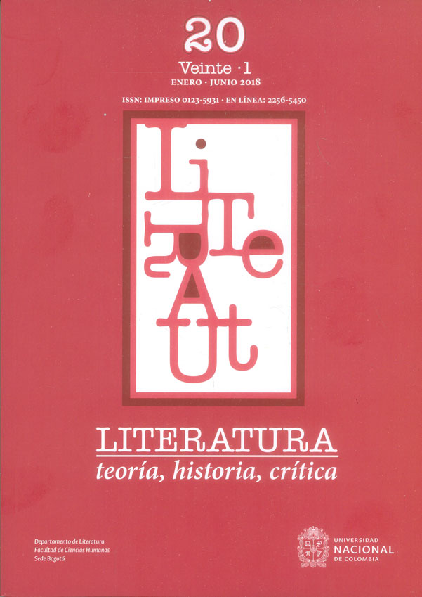 Literatura. Teoría, historia, crítica Vol. 20 No. 1 Enero - Junio 2018