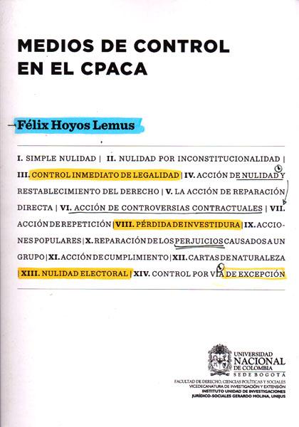 Medios de control en el CPACA