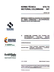 Norma técnica sectorial colombiana NTS-TS 007