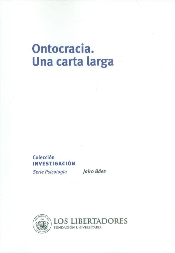 Ontocracia. Una carta larga