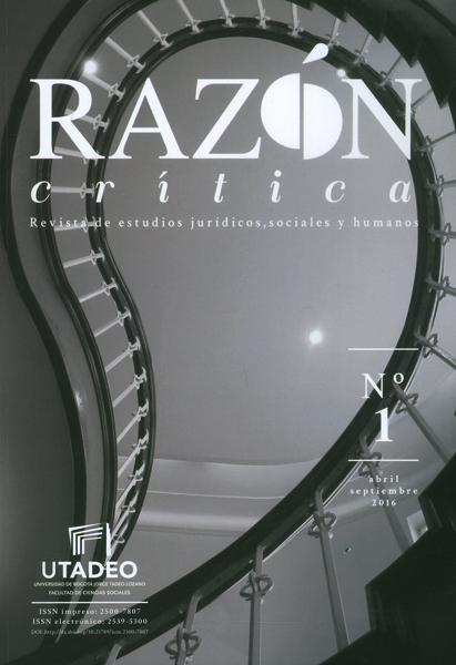 Razón crítica. Revista de estudios jurídicos, sociales y humanos  No.1