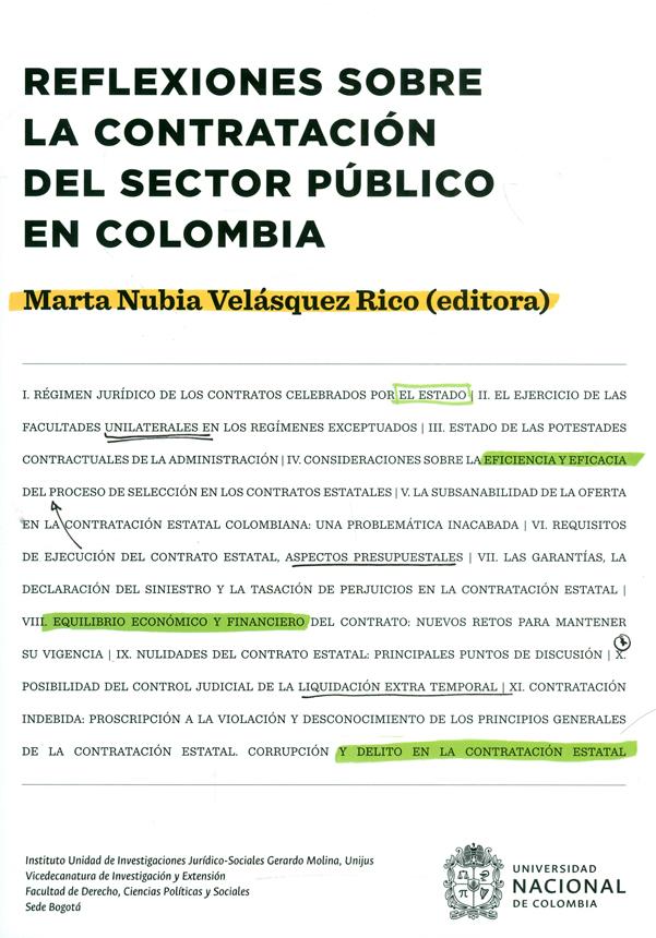 Reflexiones sobre la contratación del sector público en Colombia