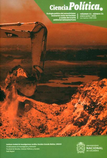 Revista de ciencia política.Ecología política del extractivismo: escenarios socio-territoriales y rurales de la lucha ambiental latinoamericana   Vol.11 No.21