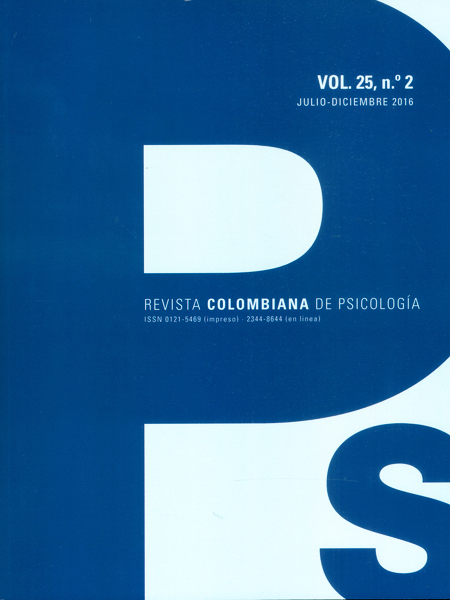 Revista colombiana de psicología vol.25 No.2