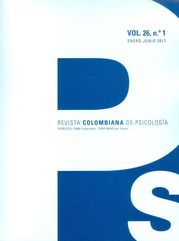 Revista colombiana de psicología Vol.26 No.1