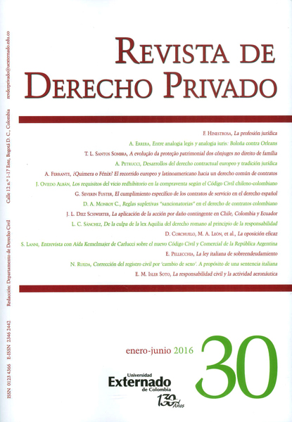 Revista de derecho privado No. 30 Enero-Junio 2016