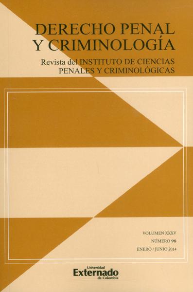 Revista de Derecho penal de criminología No.98 Vol.35
