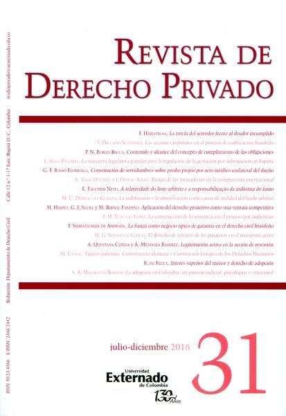 Revista de derecho privado No.31