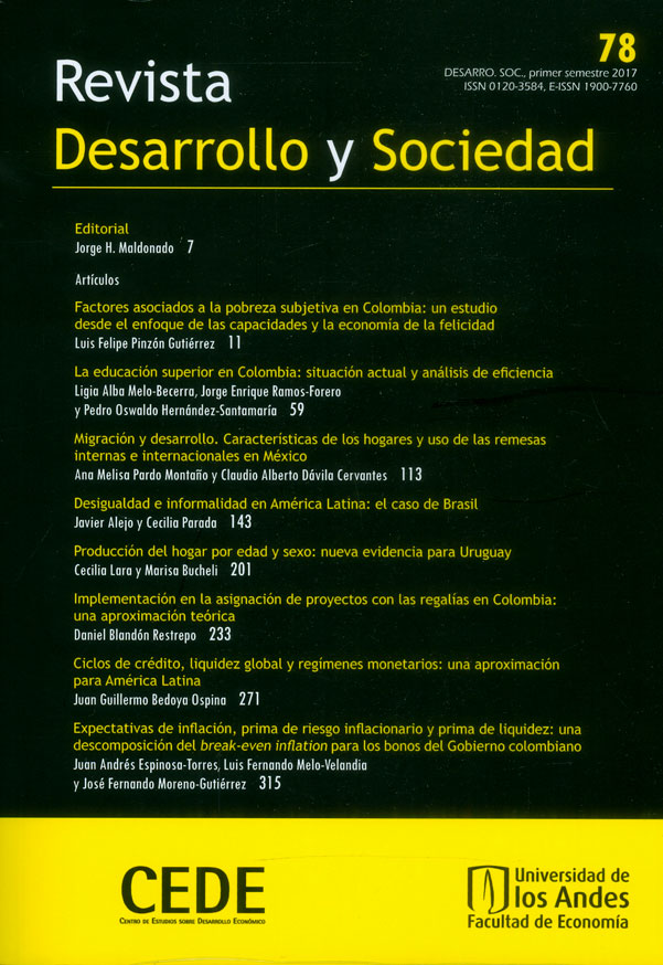 Revista desarrollo y sociedad No. 78