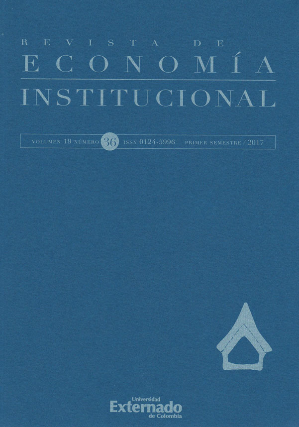 Revista de Economía Institucional Vol. 19 - No. 36