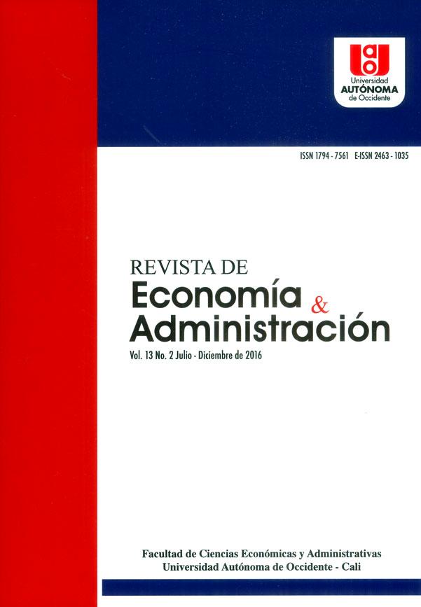 Revista de economía y administración Vol.13 No.2