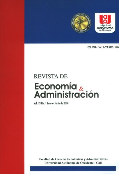 Revista de economía y administración Vol.13 No.1