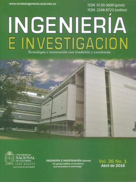 Revista ingeniería e investigación Vol.36 No. 1