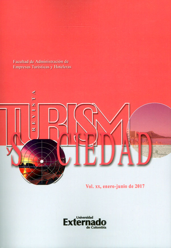 Revista turismo y sociedad Vol. XX