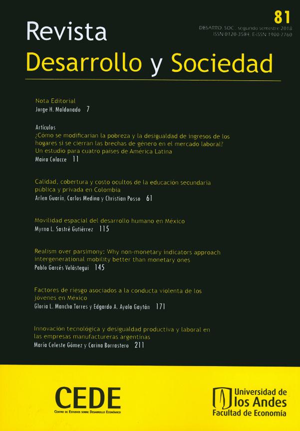 Revista Desarrollo y sociedad No. 81